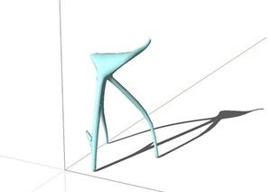 三角抽象小品设计SU(草图大师)模型