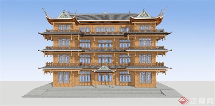 古建筑,多层建筑,文化建筑,商业建筑