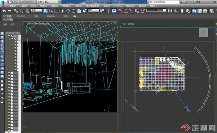 服装展厅室内设计cad施工图、3d模型、ps排版以及效果图(9)
