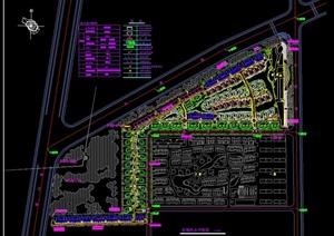 某不规则地块小区建筑规划设计CAD图