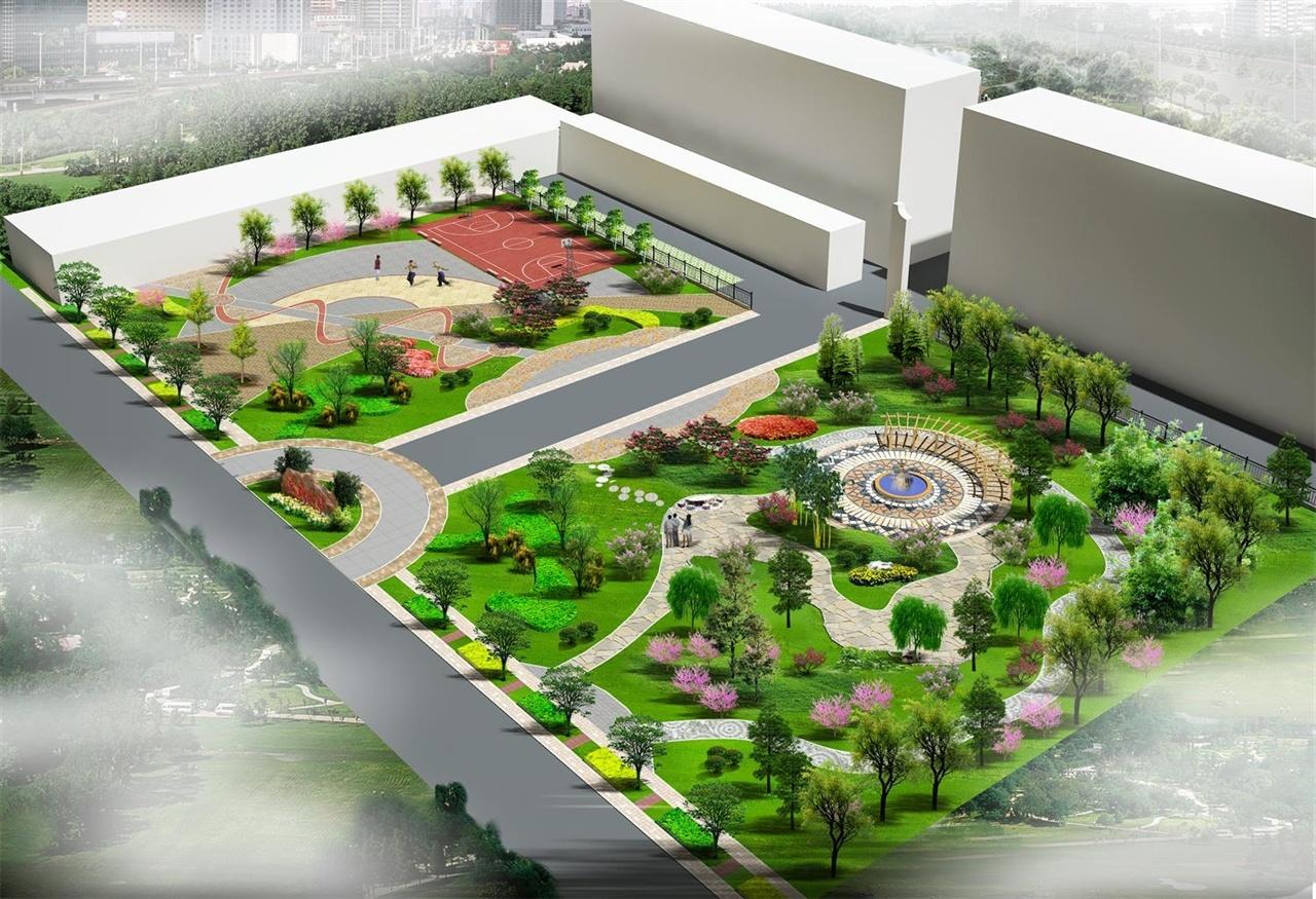 黄庄游园鸟瞰图2