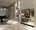 客厅,餐厅,隔断柜,大理石地砖