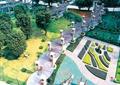 小区中庭景观,儿童游乐设施,花坛,玻璃廊架