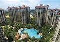小区中央景观,露天泳池,高层住宅