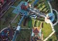 小区中央景观,凉亭,塔楼,游乐场