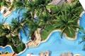 休閑度假區景觀,泳池,草坪