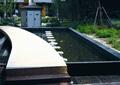 景观水池,平板桥,配电房