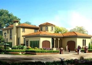 欧式二层自建别墅住宅建筑设计cad施工图