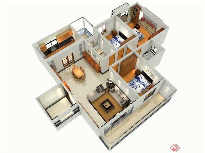 室内装饰,住宅室内装饰,客厅,餐厅,卧室,厨房