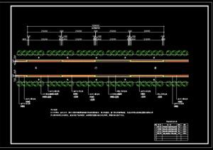 道路绿化设计cad施工图