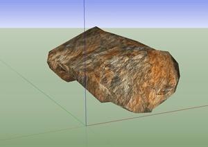 单个石块、石头设计SU(草图大师)模型