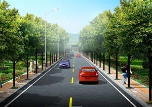 某山公路绿化分成PSD效果图
