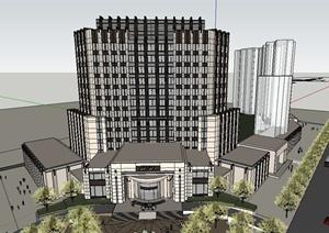 76个酒店办公会所建筑设计SU(草图大师)模型