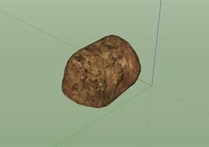 某庭院自然石设计SU(草图大师)模型