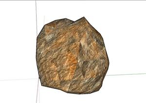 石块设计SU(草图大师)模型