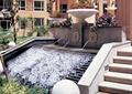 入口水景,跌水水景,叠水池,喷水景墙,花钵