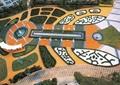 小区中央景观,喷泉水池,小区绿化,园路