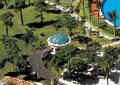 小区中庭景观,凉亭,廊架,园路,草坪,汀步,路灯,泳池