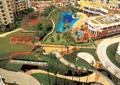 小区中庭景观,园路,草坪,泳池
