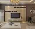 客廳,客廳裝飾,沙發茶幾,電視,電視柜,電視背景墻,吊燈,空調