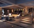 吧台,旋转楼梯,酒柜,沙发茶几