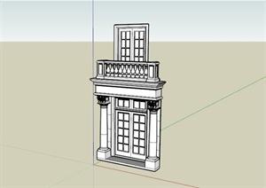 欧式住宅大门设计SU(草图大师)模型