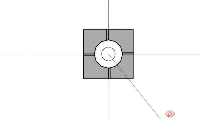 现代简约筒灯设计SU模型(2)