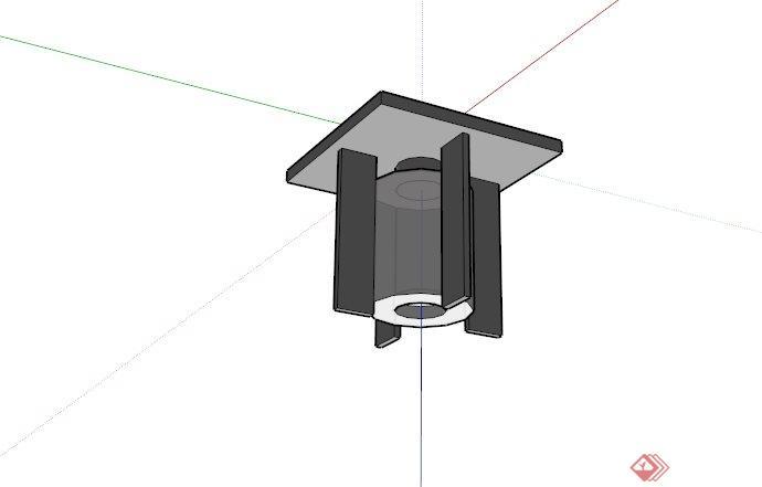 现代简约筒灯设计SU模型(1)