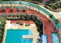 中庭泳池景观,木栈道