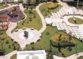 休闲广场,景观柱,游乐设施,廊架,园路