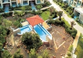 小区中庭景观,水池,凉亭,自然石水池