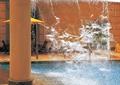 跌水景观,跌水廊架,玻璃廊架,景观水池