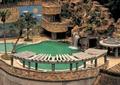 假山水景,露天泳池,廊架,木廊架,假山