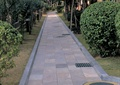 人行道景觀,綠化帶,排水溝