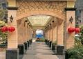 长廊,景观廊,廊架,壁灯,灯笼