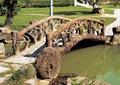 園橋拱橋,拱橋設計,欄桿圍欄,水池景觀