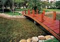 园桥,木桥,卵石水池