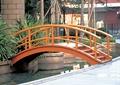玉桥,水池,木桥