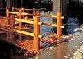 园桥,卵石水池,木栏杆,木桥