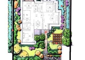 别墅庭院景观平面图合集