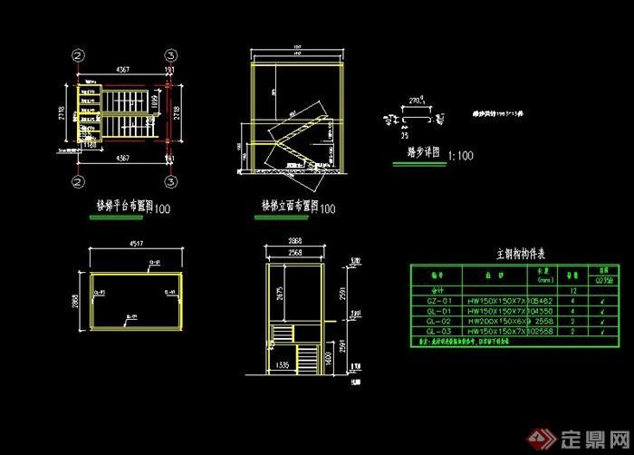 某现代集装箱住宅cad施工图(3)