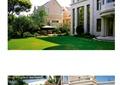 別墅庭院,庭院花園,草坪,樹池