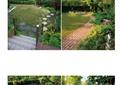 别墅庭院,庭院景观,道路铺装,石板汀步,雕塑小品
