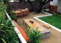 別墅庭院,庭院設計,草坪景觀,桌子,餐桌組合