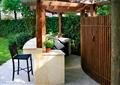 庭院景观,廊架设计,吧台坐凳,灌木墙