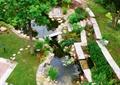 庭院,庭院花园,庭院景观,汀步,水池,挡墙种植池