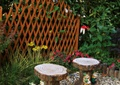 庭院景观,雕塑小品,坐凳,隔断屏风