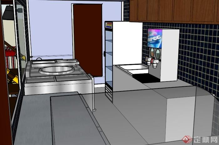 現代戶外餐車設計SU模型(2)