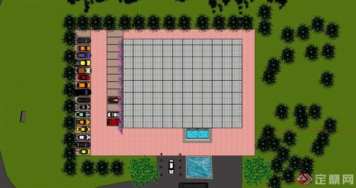 温室大棚生态餐厅SU模型(2)