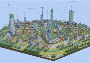 某国外概念建筑群SU(草图大师)模型